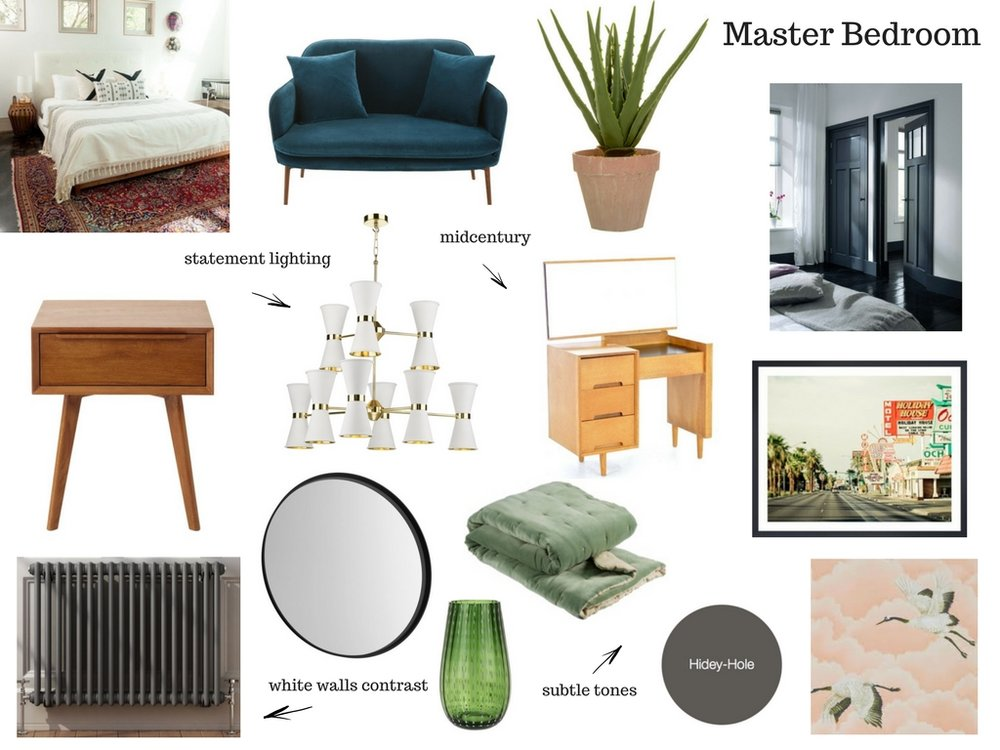 My Revamp Restyle Reveal Master Bedroom mood board.