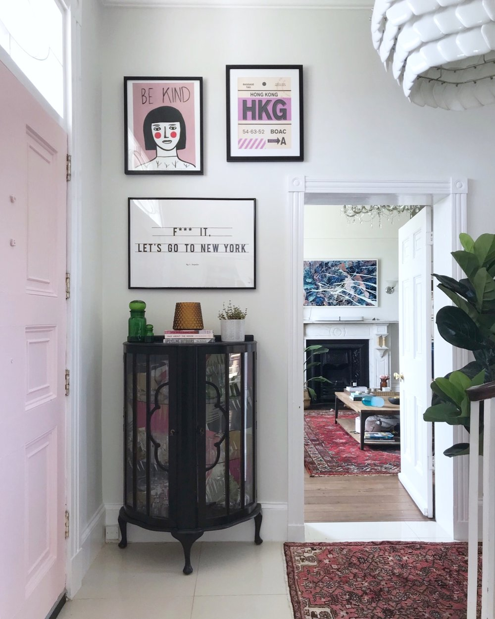 I've mixed up these frames - the  Be Kind  print is a glass fronted buy from  The Range , the  Hong Kong  print is professionally framed by  King & McGaw  and the  New York  print is a clip frame.