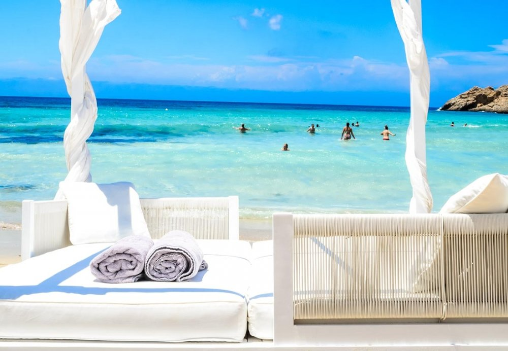 What I will be doing in Ibiza whilst Joe relives his youth. Image:  Cotton Beach Club, Ibiza