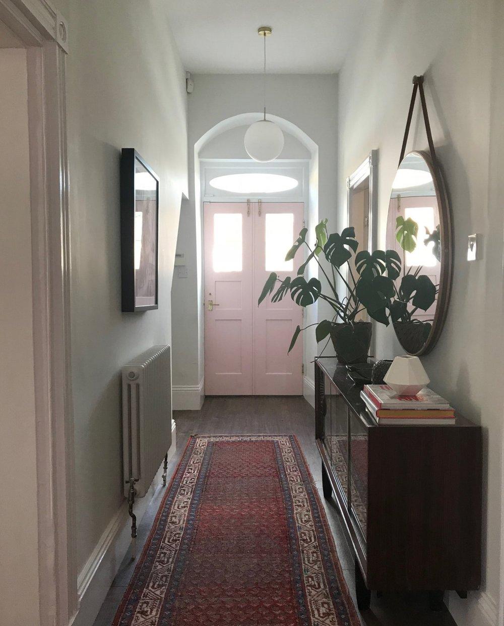 The rear hallway.