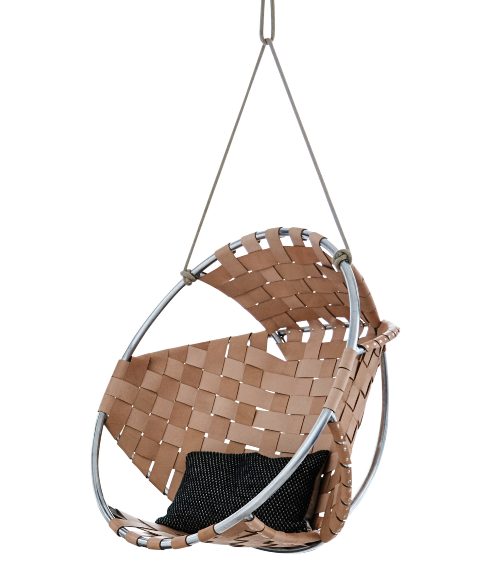 Cocoon Hanging Armchair in Leather,  Trimm Copenhagen   Made In Design £2,111