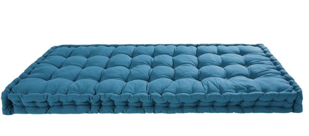 Petrol Blue Cotton Mattress , Maisons Du Monde £115