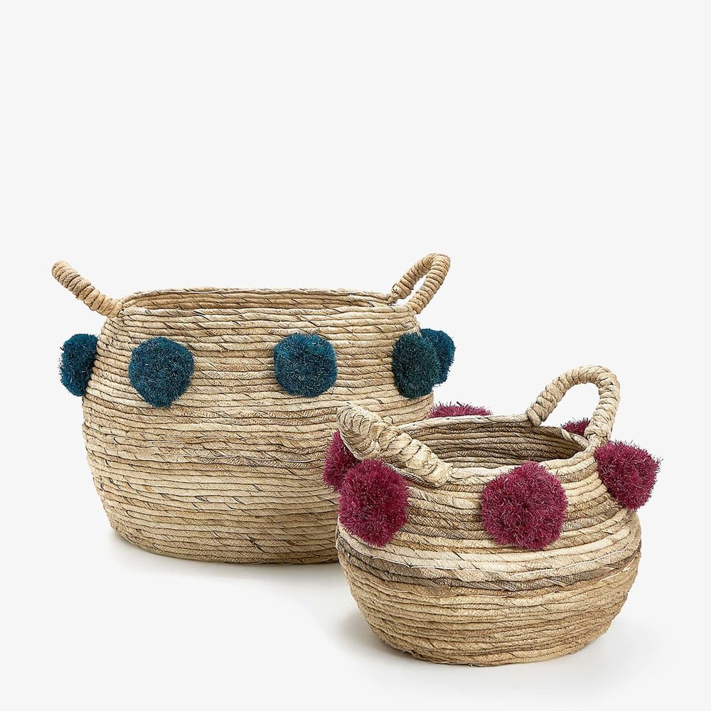 Pom Pom Baskets , Zara Home £29.99 - £39.99