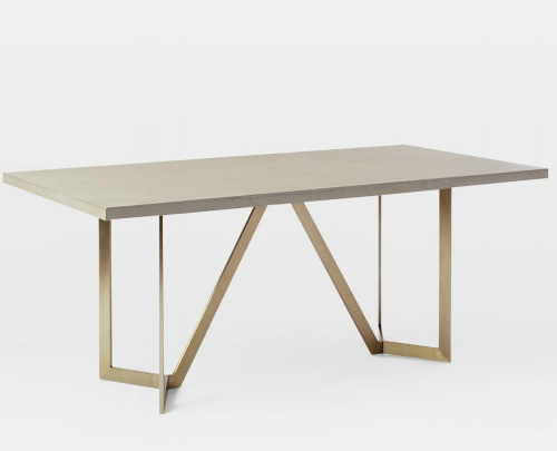 Tower dining table, West Elm.
