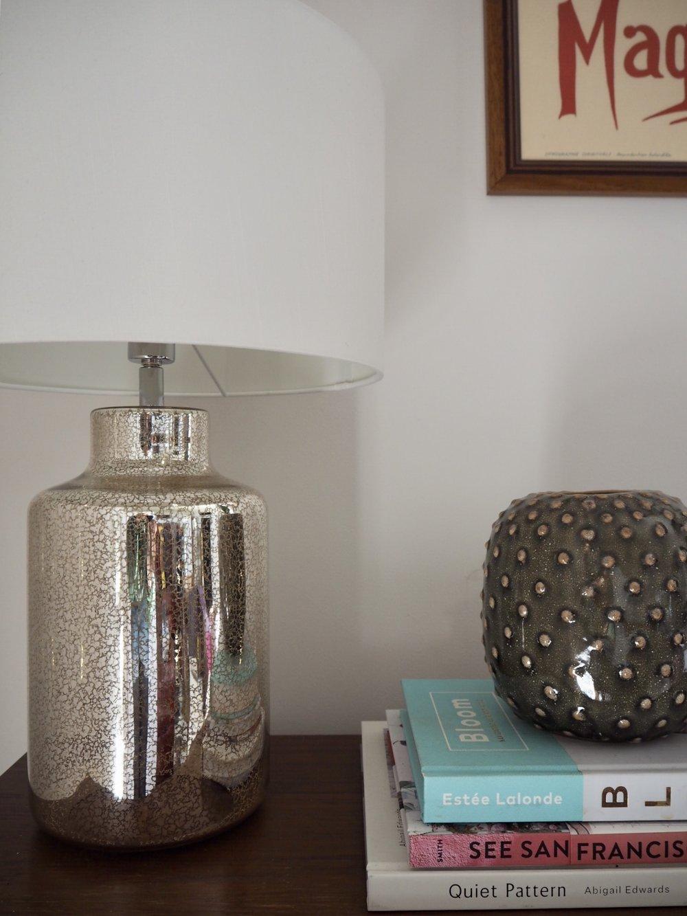 Argos Home Flora Mercury Glass Table Lamp