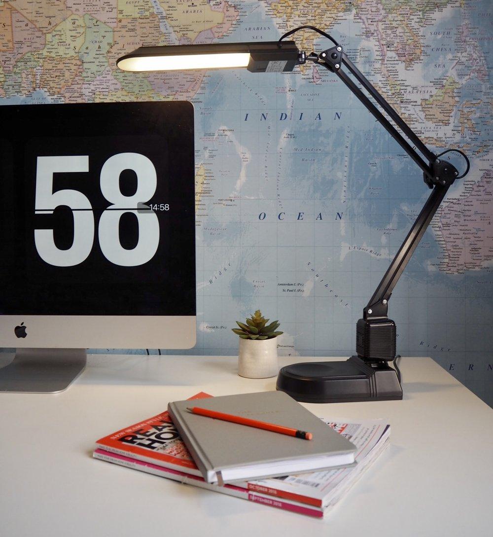 Argos Home LED Desk Lamp, Black