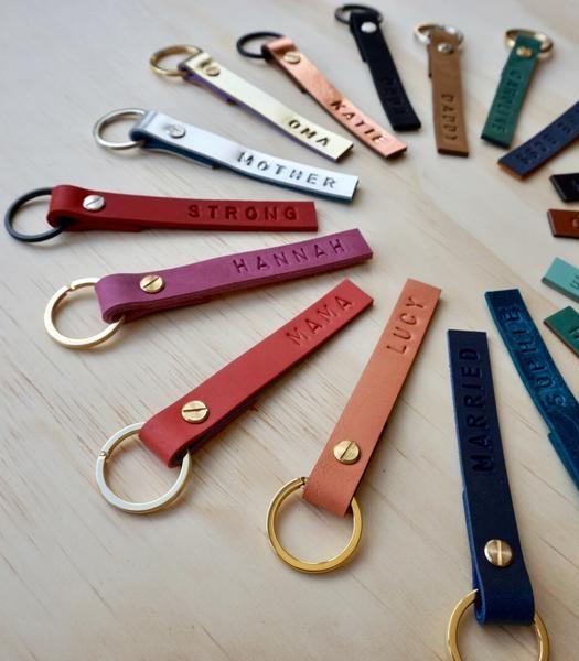 Starling Personalised Leather Keyring  - £18  Konoc