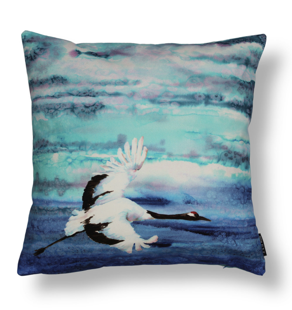 Birds In Flight cushion  - from £26.50 (three available)  A & H Wills