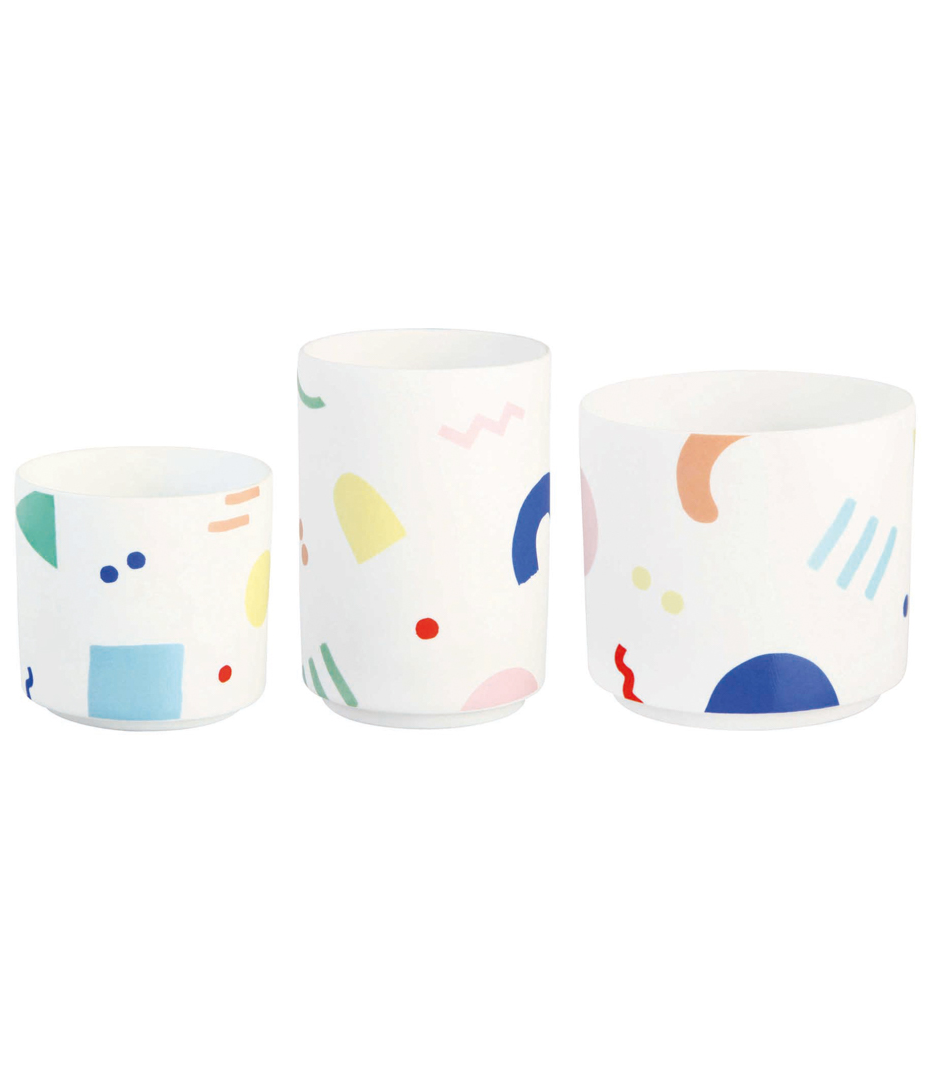 Painted Graphic Tea Light Holder  - £11.95  The Gifted Few