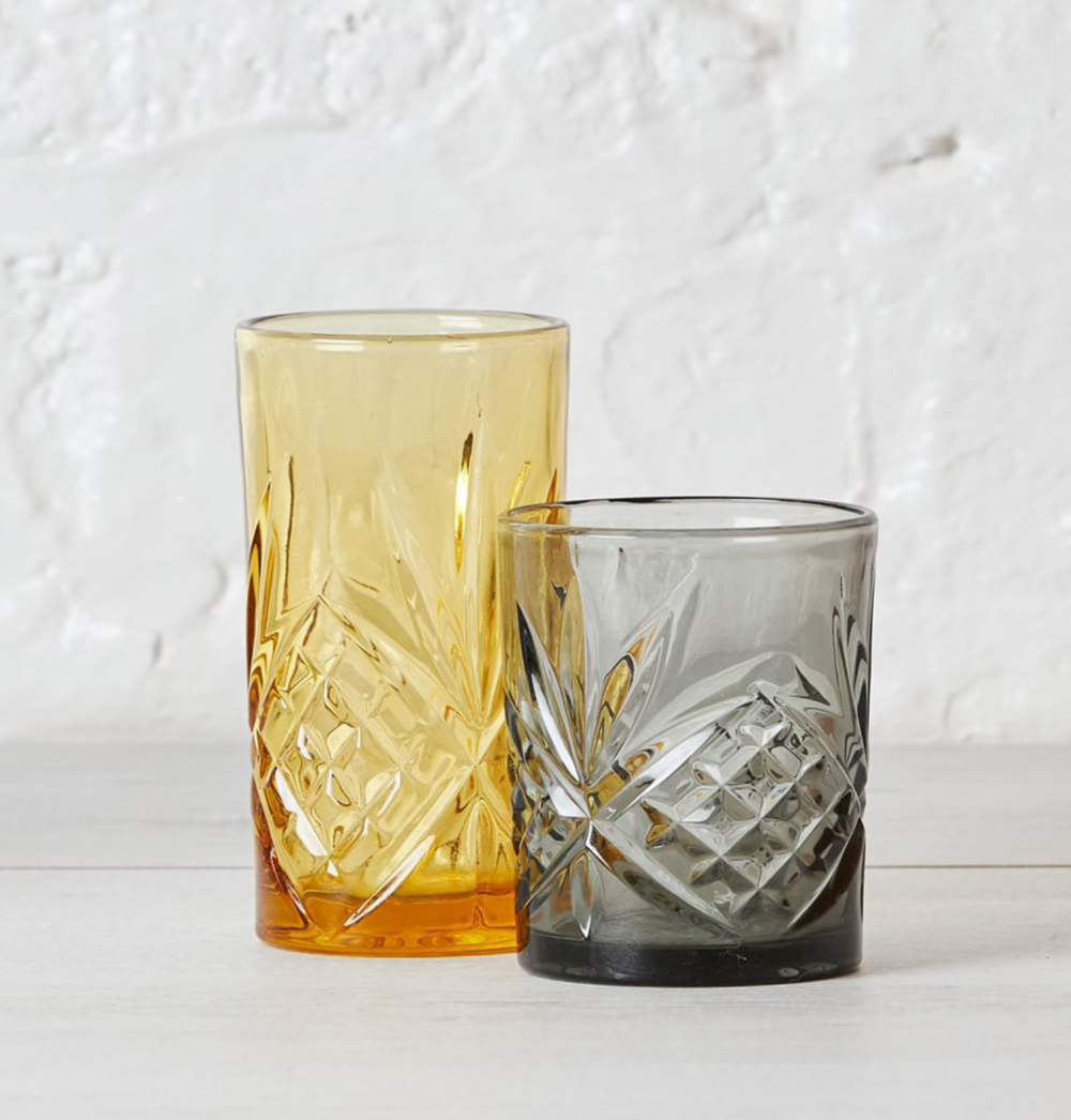 Amber Cut Glass Drinking Glasses  - From £6.50  LillianDaph
