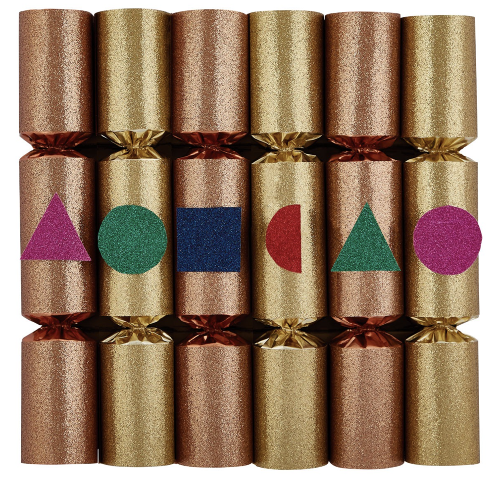 Metallic Glitter Crackers   Habitat - £18 for six