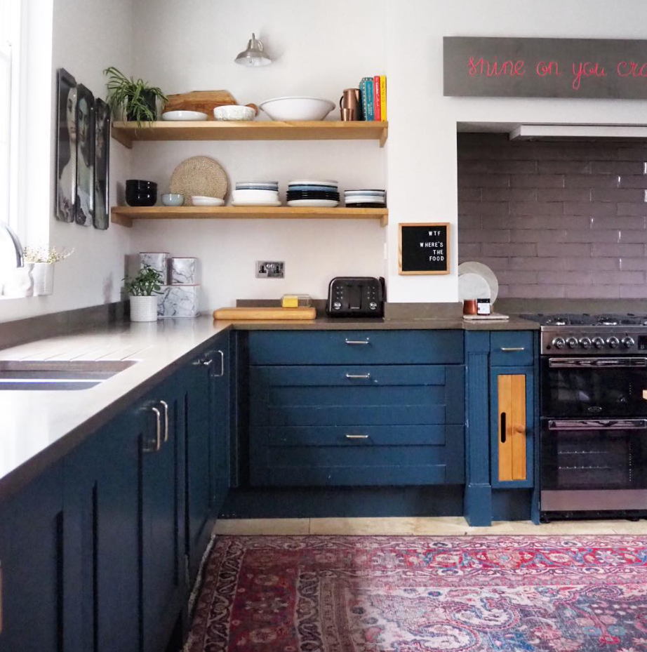 My revamped (the first time) kitchen. I was totally over the blue cupboards and needed a change.