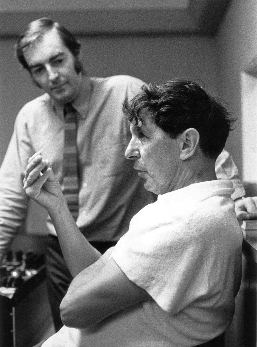 Kevin with composer Sir Michael Tippett