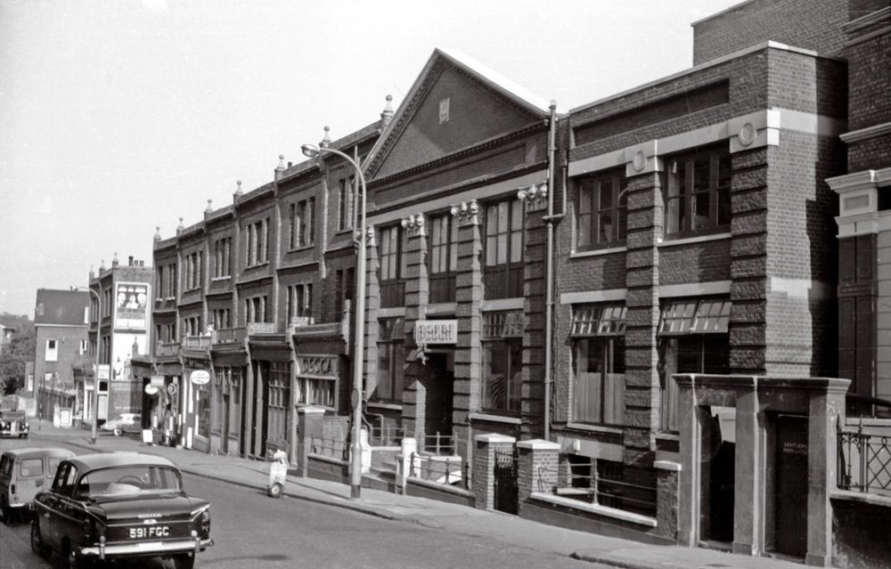 BROADHURST GARDENS IN 1963, WITH DECCA STUDIOS ON THE RIGHT