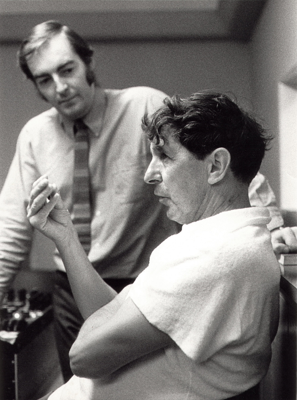 KEVIN WITH COMPOSER SIR MICHAEL TIPPETT IN 1970