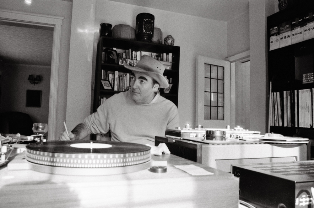 Kevin working at a temporary home studio, a few months before his death, late 1989