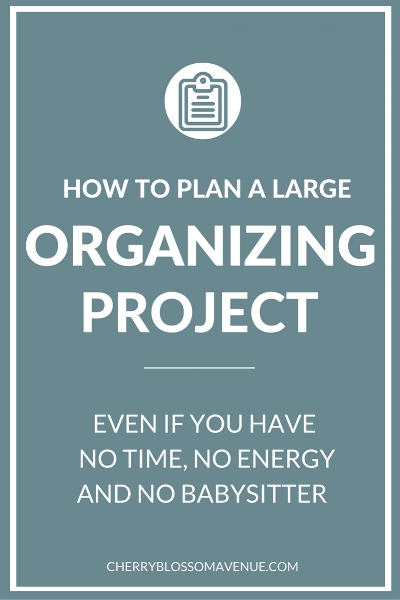 Wondering how to tackle that big organizing project? This helpful post will help you through it all.