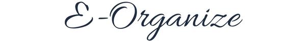 E-organize. Online consultation with a professional organizer