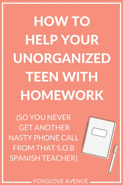 If you've ever wondered 'how do I help my disorganized teen not get behind with homework?', this post is for you.