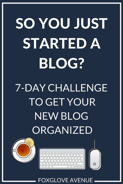 If you've just started a blog, now's the time to get your blog life organized. Follow this helpful 7-day challenge and say 'adios' to overwhelm.