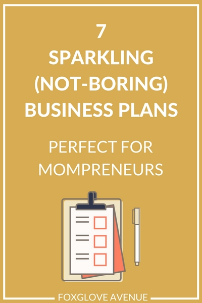 Think business plans are boring? Think again. here are 7 beautiful business plan templates that'll put the sparkle back into your mompreneur business