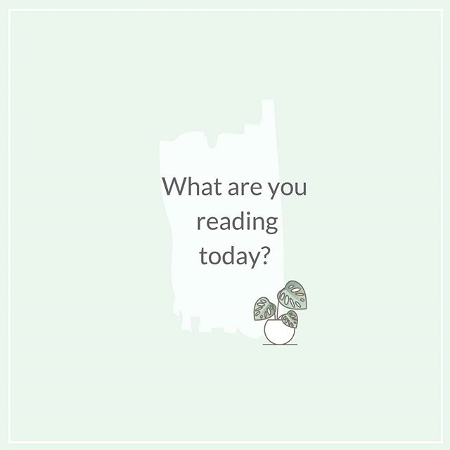 What are you reading today? One of my New Year's Resolution was to read more. And I'm failing hard. Help a mama out, tell me - what's on your nightstand?