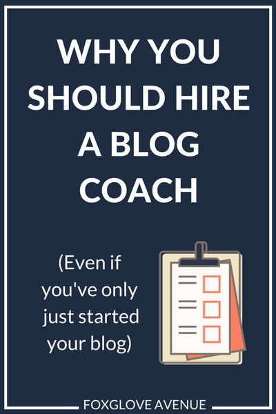 Why you should hire a blog coach - yes, even if you've only just started your blog