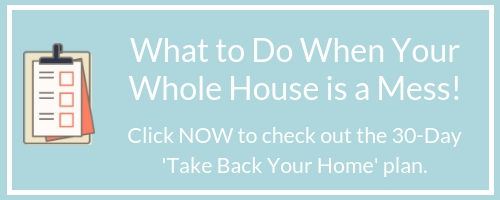 Are you drowning in mess? Struggling to get organized? If you wondering what to do when your entire home is a big old mess, take a look at this helpful post.