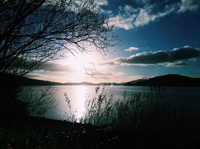 Photo-a-day #32 - The reason I love Scotland • • • #photoaday #scotland #loch #trees #forest #hills #sunlight #reflection #bluesky #ipreview @preview.app