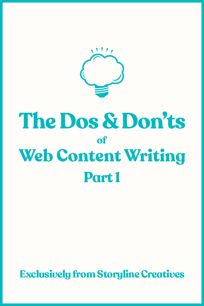 The Dos and Don'ts of Web Content Writing