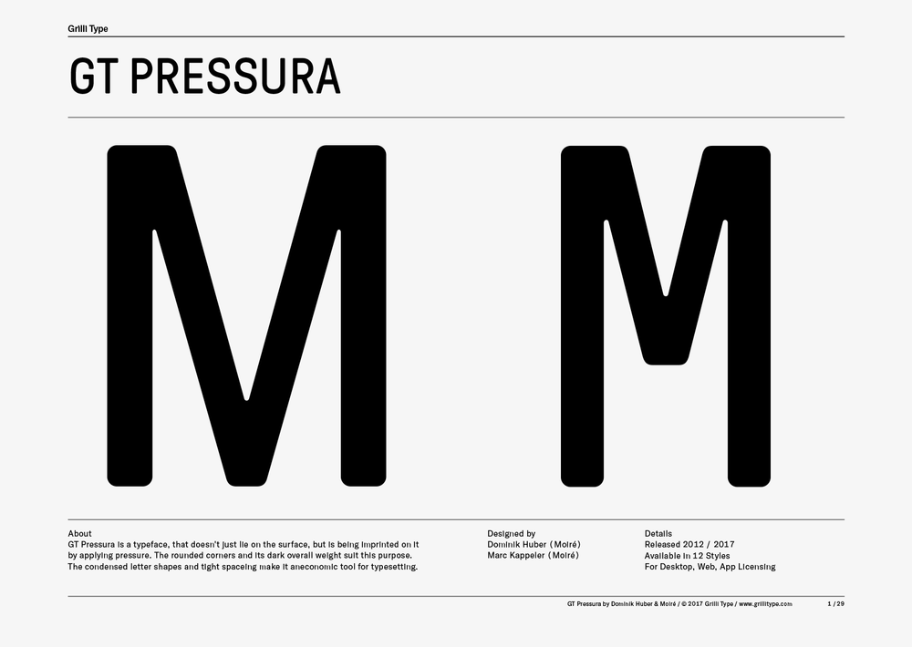 GT Pressura from Grilli Type