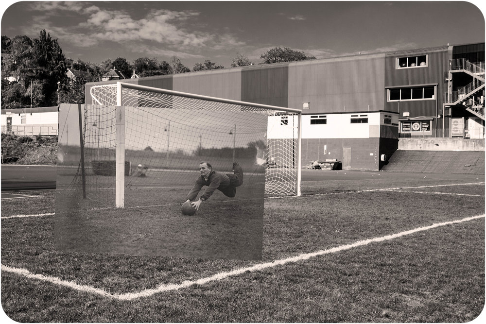 Playing goalie. Withdean Stadium. Brighton