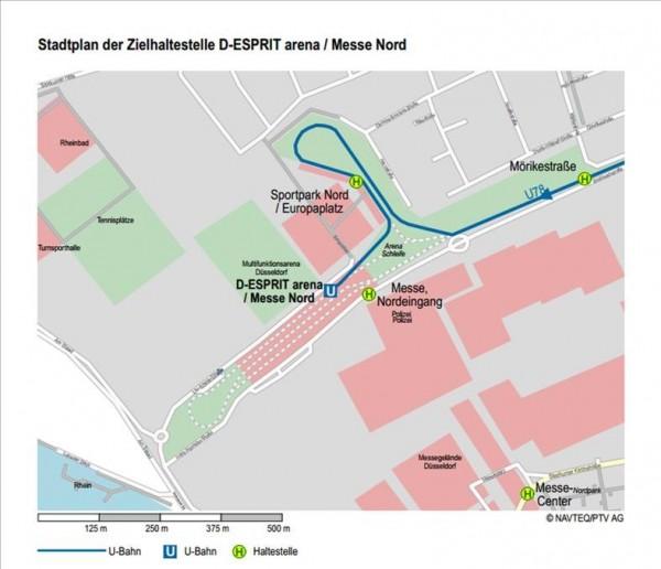 """Проезд к выставочному комплексу """"Messe Düsseldorf"""" и ЭСПРИТ-Арене"""