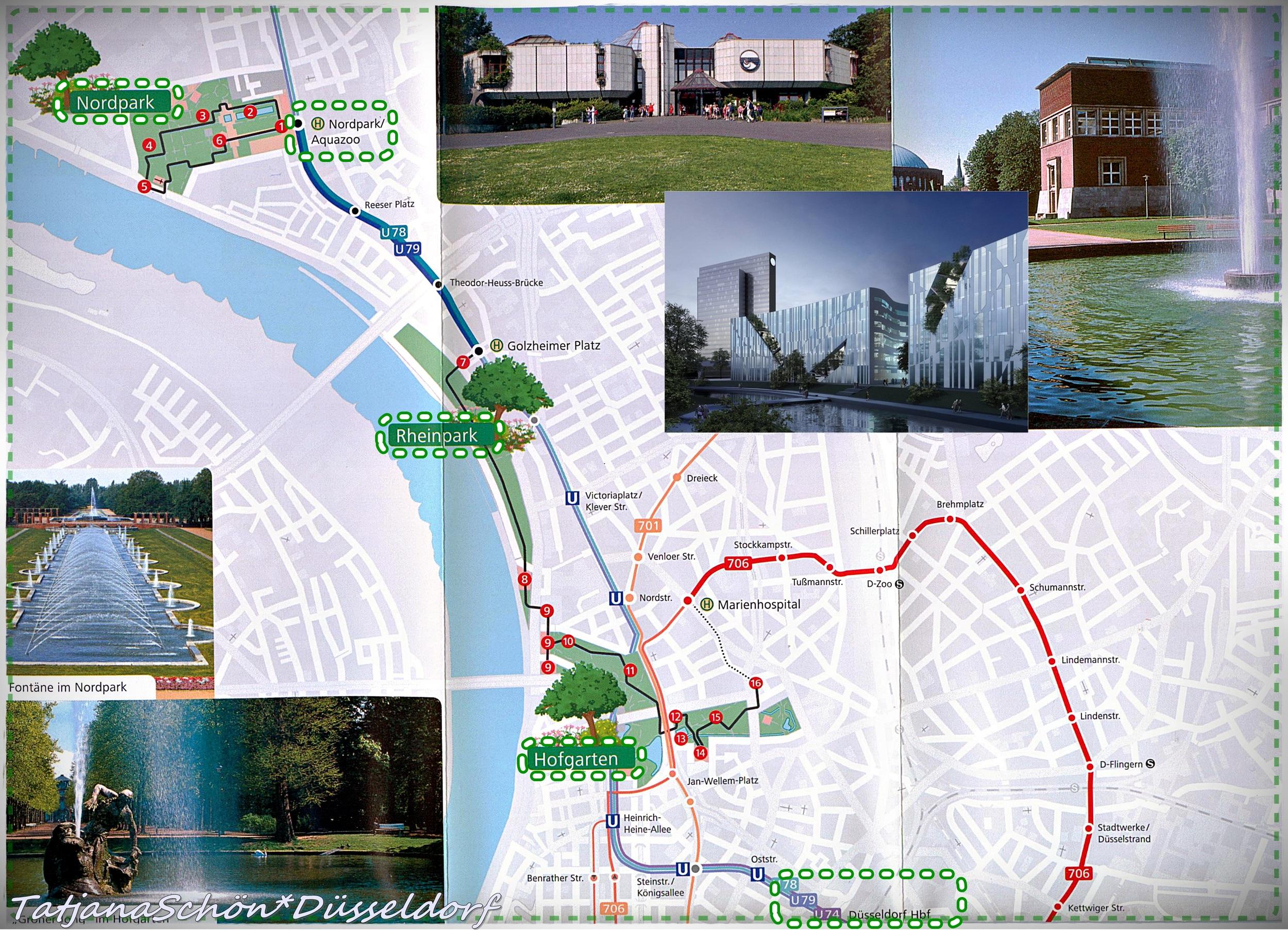 Зелёное окаймление Рейна: парки Дюссельдорфа