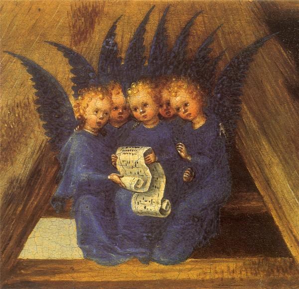 """Фрагмент """"Поклонения волхвов"""" в знаменитом произведении Стефана Лохнера, в Кёльнском соборе"""