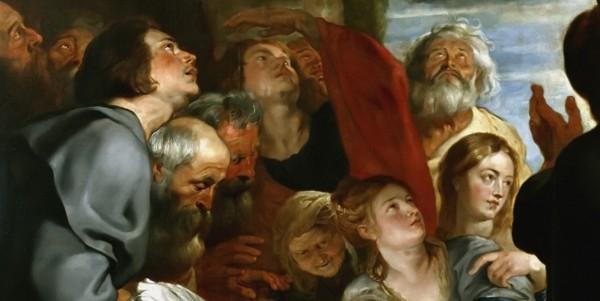 Рубенс, Вознесение Марии, фрагмент - Дюссельдорф