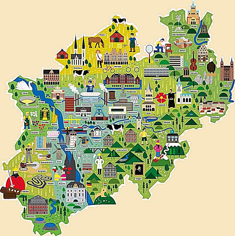Столицей землиСеверный Рейн - Вестфалия, образованной в 1946 году, стал Дюссельдорф