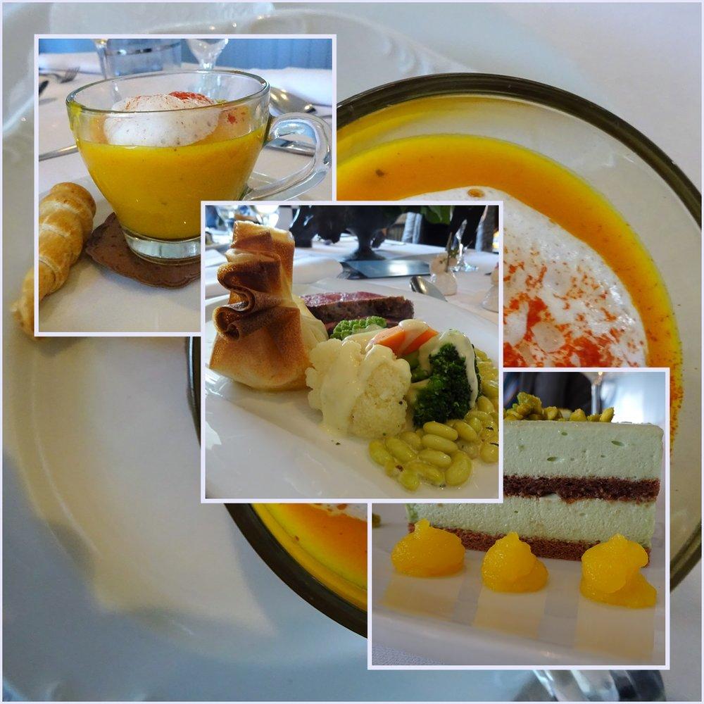 """А чашечка супа ещё и потому, что суп на обед (и для немецкого застолья особенно!) важен, но меню из трёх блюд надо как-то облегчать, вот тут и """"чашечная"""" порция правильно подошла."""