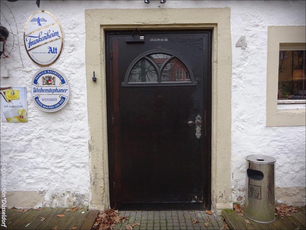 """Ресторанная дверь замка """"Хаус Дюссель""""в Дюсселе (не в Дюссельдорфе!)"""