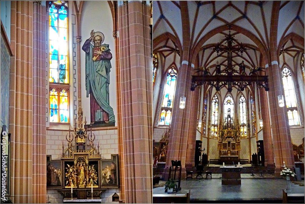 Санкт Петер в Дюссельдорфе - А тем кто прочитал внимательно цифры и факты, но хотел бы увидеть красоту убранства обычной дюссельдорфской католической церкви(пусть и не зрелищную, но достойную внимания) - смотрите дальше фото, которые я сделала недавно меж двумя экскурсиями, буквально