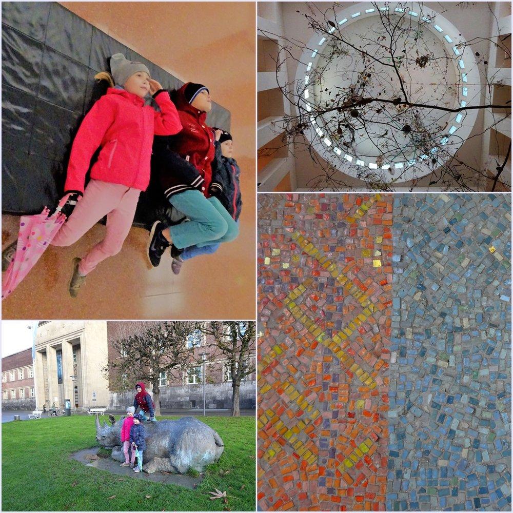 Дети видят многое, весело с ними. Например, можно полежать в музее, вычислять длину скульптуры в шагах или попробовать сосчитать камни в монументальной мозаике.