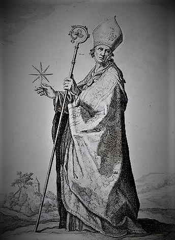 Этот святой изображается с восьмиконечной звездой!