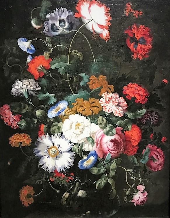 Картина из Дюссельдорфского музея. Жостовские подносы не напоминает?