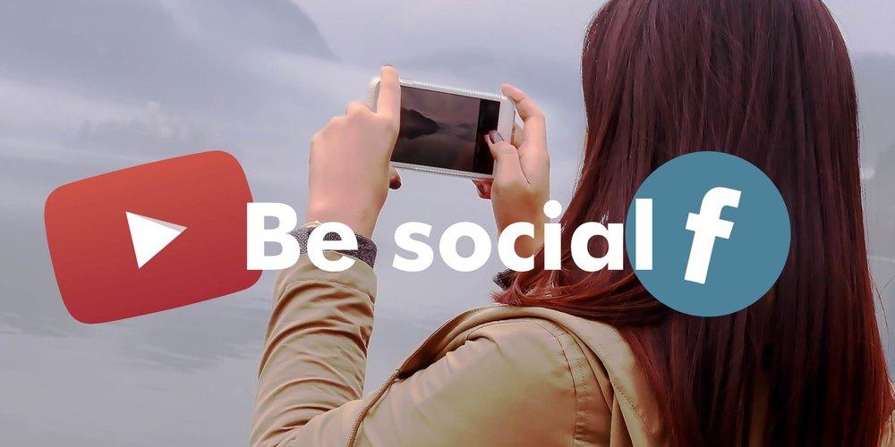 Be Social, youtube facebook