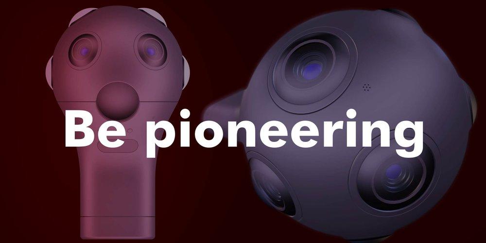 Be pioneering