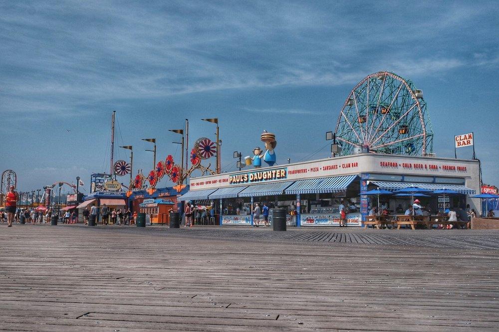 Beach promenade, Coney Island.
