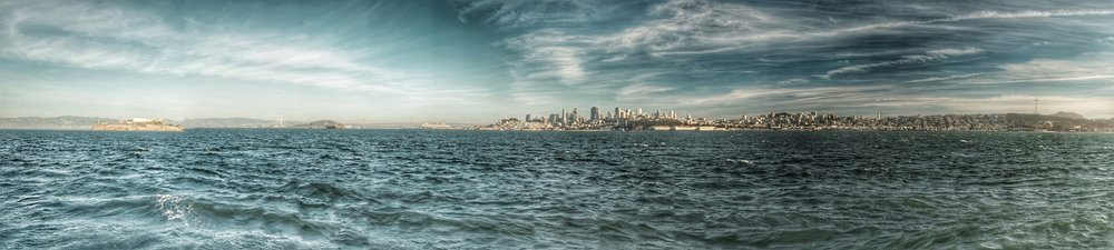 San Francisco from the bay.