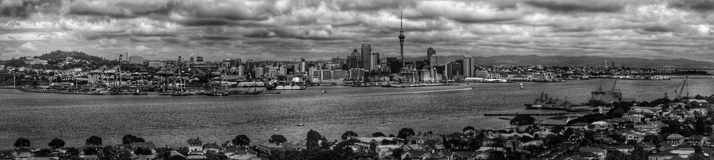 View of Auckland from Mt Victoria, Devonport.
