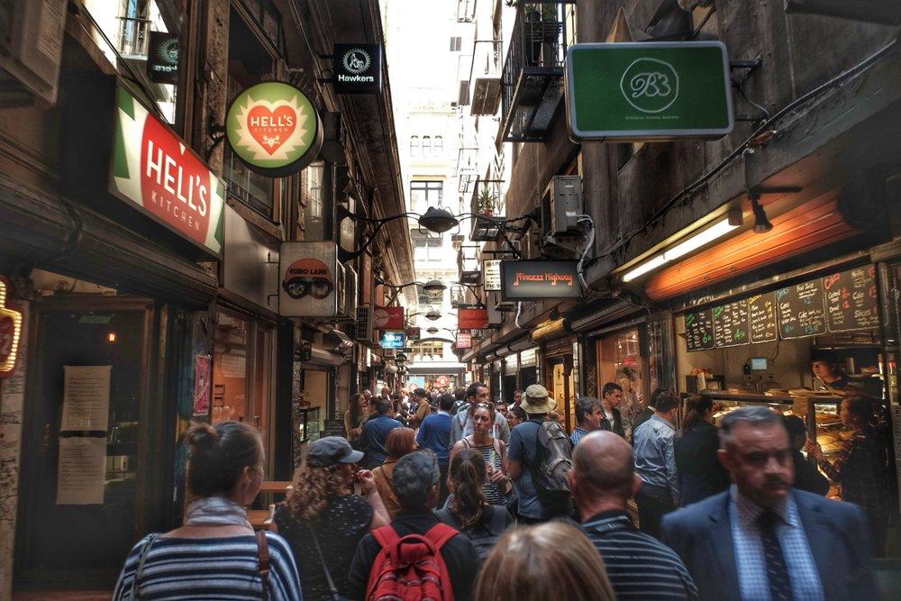 Central square alley.