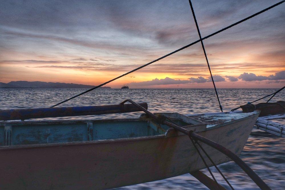 Boat journey to Boracay.